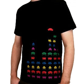 T-Shirt RetroGamer Space Invaders