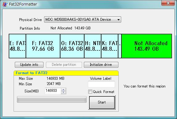 Formater en FAT 32 sous Windows 7 et 8