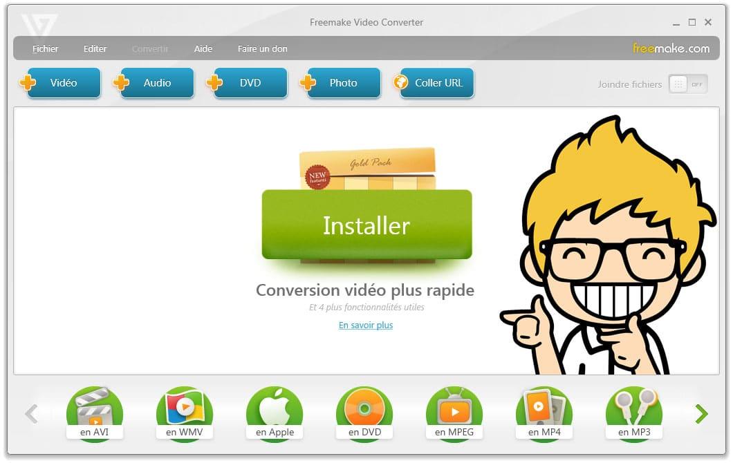 Freemake video converter : Le convertisseur de vidéo gratuit !