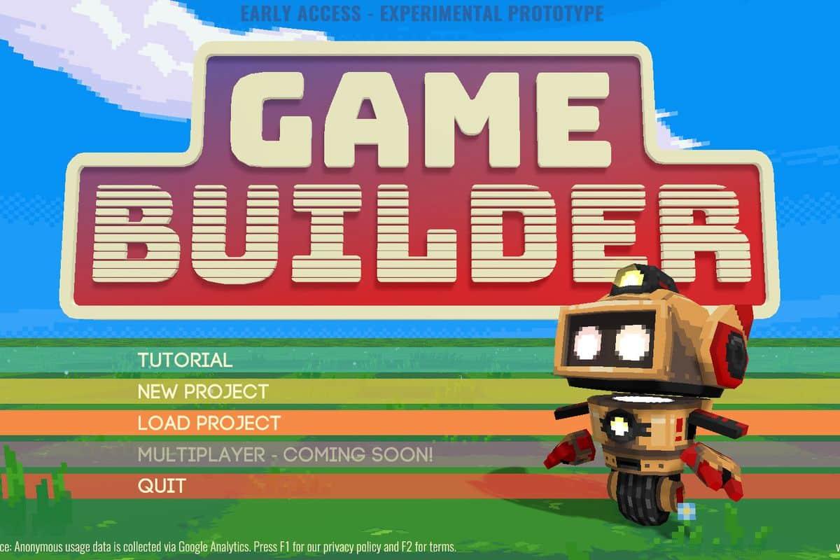 Game Builder : Créer un jeu vidéo sans connaissance en programmation